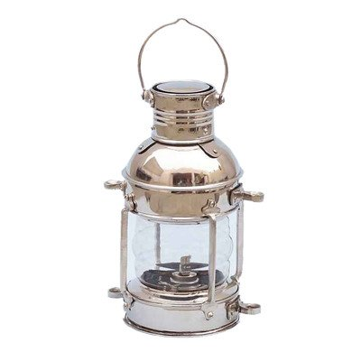 Anchor Oil Lantern Finish: Chrome, Size: 12″ H x 6″ W x 7″ D