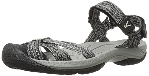 KEEN Women's Bali Strap Sandal, Neutral Gray/Black, 8.5 M US by KEEN