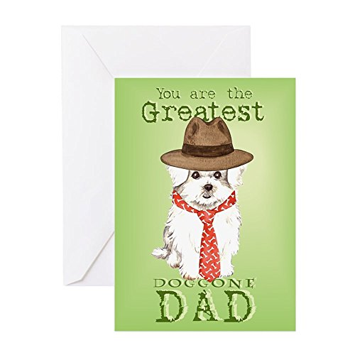 (CafePress - Maltese Father's Day - Greeting Card, Note Card, Birthday Card, Blank Inside Glossy)