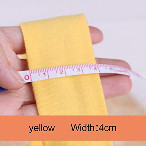 (TomTomPro 5 Meters/lot Polyester Cotton Canvas Webbing Band Sewing Backpack Belt Bags Strap Clothing Decor (Yellow 4cm))