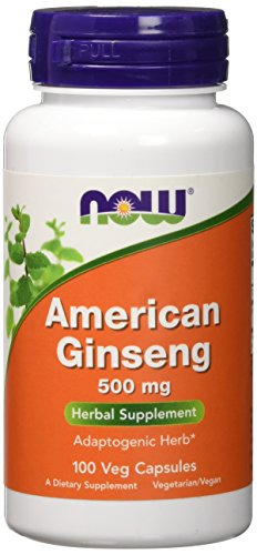 NOW American Ginseng 500 mg,100 Capsules