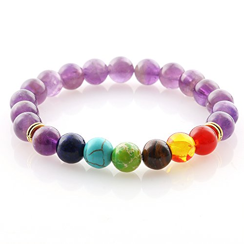 Lava Rock Bracelet Wrist Beads Women Men Chakra Rope Design Natural Energy Bangle Yoga Valentines Gifts Amber Beaded Stretch Bracelet