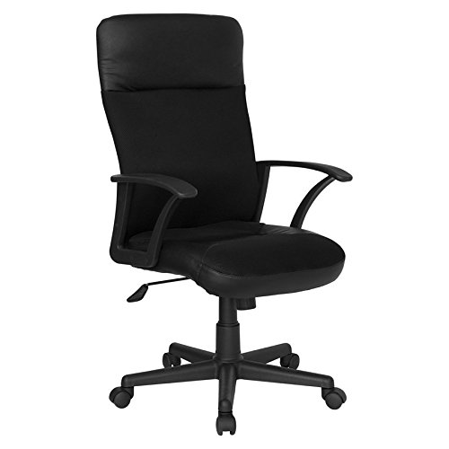 High Back Black Leather / Mesh Combination Executive Swivel Office Chair [CP-A142A01-GG] electronic consumers