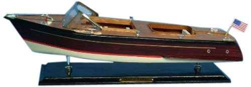 Craft Wooden Boats Chris - Hampton Nautical  Chris Craft Runabout Speedboat, 20