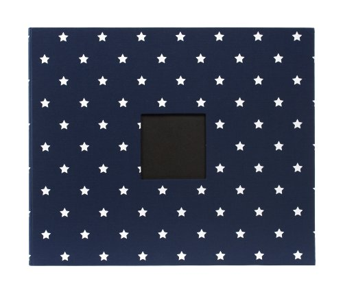 American Crafts Patterned Album D-Ring, 12 by 12-Inch, Navy Stars by American Crafts