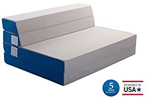 Amazon Merax Tri Fold Foam Folding Mattress and Sofa Bed for Guests Floor Mat Full
