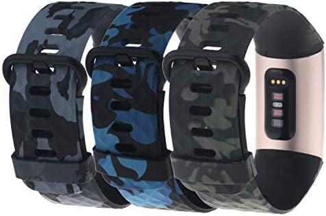 Chofit 교체 밴드 Fitbit Charge 3 스페셜 에디션 여성용 실리콘 위장 꽃무늬 무늬 무늬 프린트 스포츠 손목 밴드 스몰 라지 3팩 / Chofit 교체 밴드 Fitbit Charge 3 스페셜 에디션 여성용 실리콘 위장 꽃무늬 무늬 무늬 프린트 스포츠 손목 밴드 ...