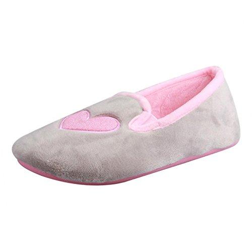 Transer® Damen Zuhause Hausschuhe Warm Schwangere Yogaschuhe Kaschmir+Plastik (Bitte achten Sie auf die Größentabelle. Bitte eine Nummer größer bestellen. Vielen Dank!) Grau