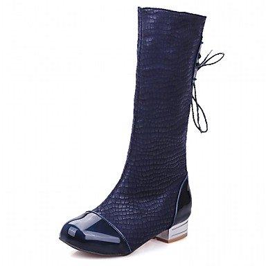 RTRY Women'S Boots Spring Fall Winter Platform Comfort Novelty Patent Leather Leatherette Wedding Office &Amp; Career Dress Casual Party &Amp; Evening US6 / EU38 / UK5 Big Kids 84XJEJG