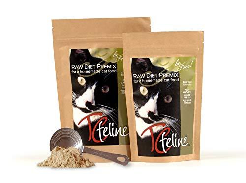 TCfeline RAW Cat Food Premix/Supplement to Make a Homemade, All Natural, Grain Free, Holistic Diet - Original Version with No Liver (Trial 4.2 oz) Egg Free Formula
