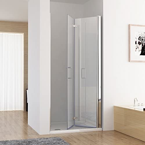 MIQU - Mampara de Ducha, Puerta Plegable 180°, Nano ESG, 120 x 185 cm: Amazon.es: Hogar