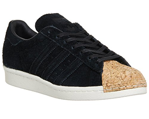 adidas Originals Superstar 80s Cork W, core black-core black-off white, 7
