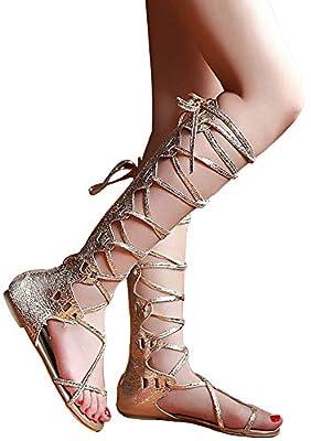 JF shoes Women's Crystal with Rhinestone Bohemia Flip Flops Summer Beach T-Strap Flat Sandals