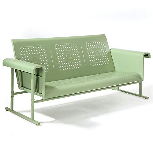 Crosley Furniture Veranda Patio Gliding Sofa in Oasis Green