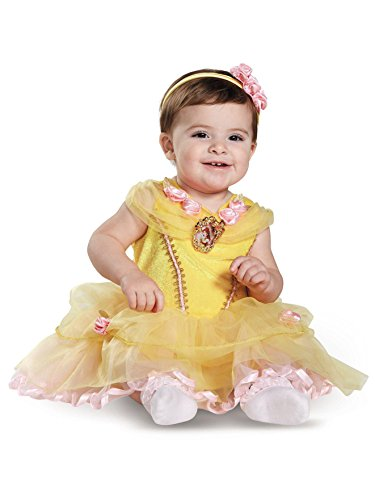 Disguise Baby Girls' Belle Infant Costume, Yellow, 12 to 18 Months