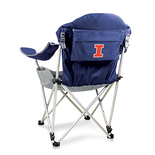 NCAA Illinois Fighting Illini Reclining Camp Chair, Navy