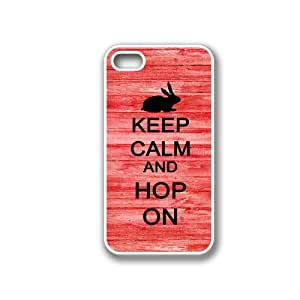 Keep Calm And Hop On Red Wood Blackberry Z10 Case - For Blackberry Z10