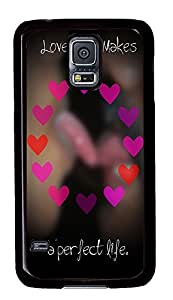 Samsung S5 leather cover Love Quotess PC Black Custom Samsung Galaxy S5 Case Cover