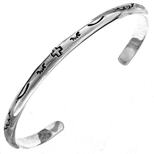 John Wayne Bracelet Sterling Silver Navajo Cuff - Bracelet Navajo Sterling