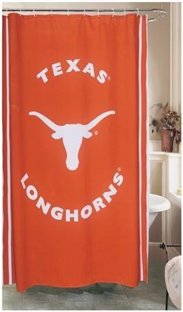 Longhorns Ncaa Shower Curtain - NCAA Shower Curtain NCAA Team: Texas