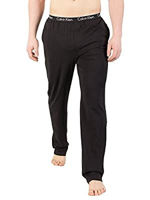 Calvin Klein Men's Logo Waistband Pyjama Bottoms, Black