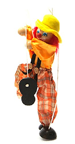 Hot Sale Children's Wooden Marionette Toys Colorful Clown Doll Parent-Child Interactive Toys-Yellow