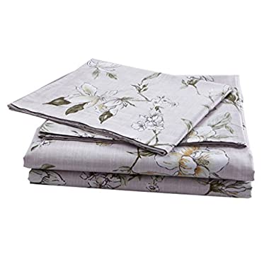 Bermo 300TC 100% Cotton Sateen Original Design Floral Duvet Cover Sets 3 PC, Oriental, Full/Queen