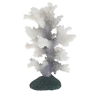 Poity Luminous Sea Anemone Silicone Coral Plant Ornament Decor for Fish Tank Aquarium 15