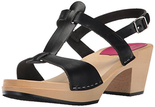 Black Swedish Hasbeens Greek Sandal Black Clogs Women's nww6OC8pZq