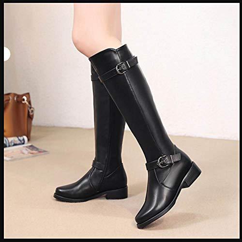 Fashion Stivali Stivali da Coolcept neri Donna lunghi motociclista qEwxg5