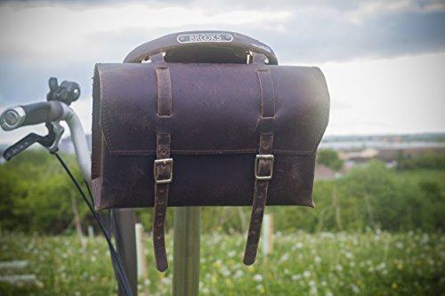 Großer Fahrrad Tasche Sattel/Lenker/Rahmen Tasche in Schokolade braun