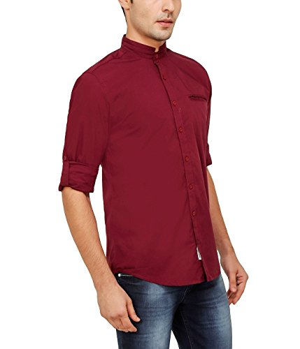 nick&jess - Chemise casual - Uni - Col Mao - Manches Longues - Homme