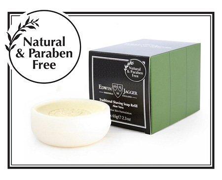 Edwin Jagger Shaving Soap Refill, Aloe Vera, 3-Pack ()