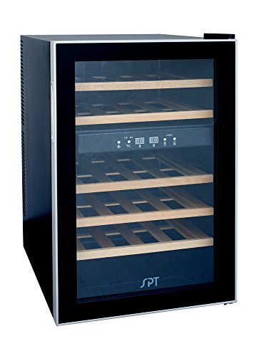SPT WC-2463W Dual-Zone Thermo-Electric Wine Cooler with Wooden Shelves (24 Bottles) ()