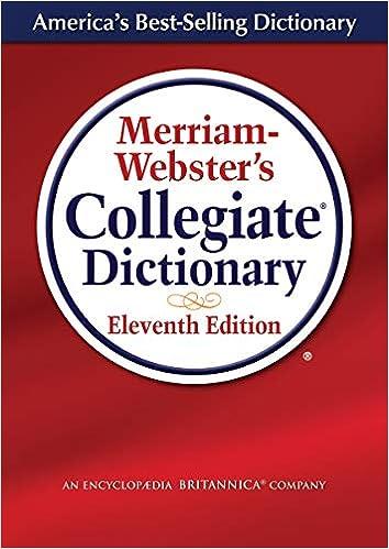 Merriam Webster S Collegiate Dictionary Laminated Cover