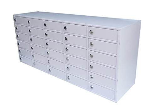 Fixture Displays 30-Slot Cell Phone iPad Mini STORAGE Station Lockers Assignment Mail Slot Box 15254 by FixtureDisplays