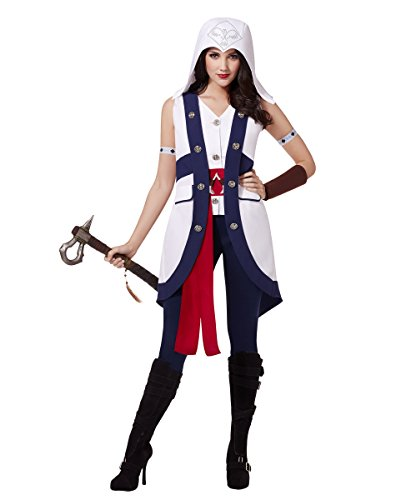 Spirit Halloween Adult Sleeveless Connor Costume - Assassin's Creed, M, White, M, White