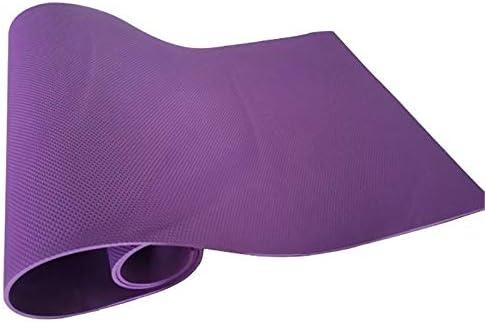 Eco friendly 183 * 61 CMストラップを運ぶとマットレスマットピラティスフィットネスワークアウトをスリーピング* 4 MMヨガマットスリミングEVAフォームヨガパッド防湿 exercise (色 : Purple)