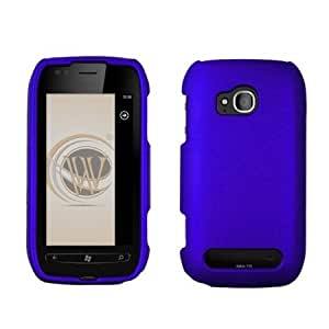 Quaroth - BC Hard Shield Shell Cover Snap On Case for T-Mobile Nokia Lumia 710 -Blue