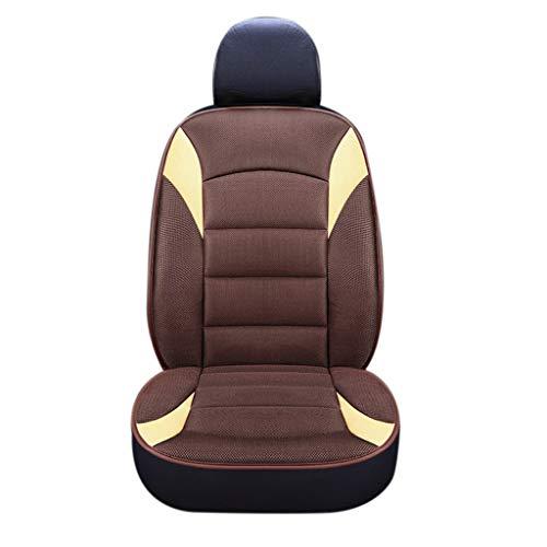 XGao Car Seat Cushion Breathable Universal Four Seasons Interior Front 1 PCS (Coffee)