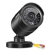 ANNKE (1) 800TVL Security Camera with 66FT Super Night Vision, IP66 Surveillance Weatherproof Bullet Camera (Black)