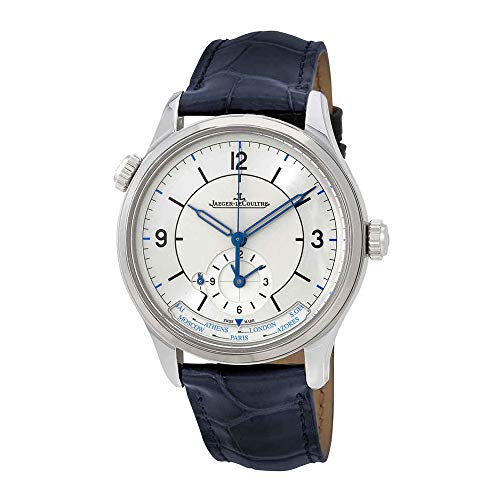 Master Geographic Silver Dial Automatic Mens Alligator Leather Watch - Jaeger LeCoultre Q1428530