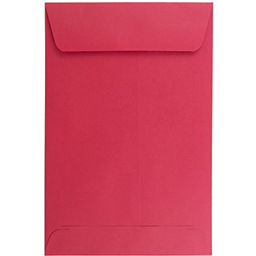 "JAM Paper 6"" x 9"" Open End Catalog Envelope - Christmas Red - 100/pack"