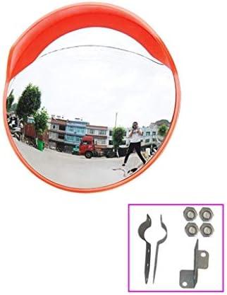 Geng カーブミラー 、交通安全ミラー屋内広角ミラー交差点を入れるのに適した凸ブラインドスポットミラー、45CM、