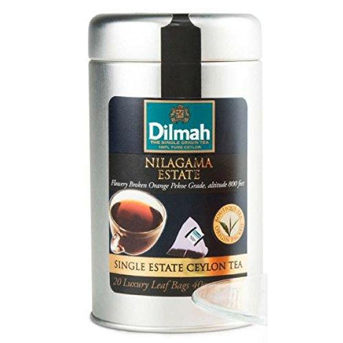 Dilmah Nilagama Single Estate Black Tea - 20 Luxury Tea Bags Sri Lanka Ceylon Pure Black - Sapphire Ceylon Orange