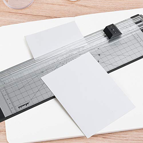 A4 Paper Cutter 12 Inch Titanium Paper Trimmer with Round Corner and Side Ruler for Craft Paper, Photo and Label (3 Packs, White and Black) Photo #3