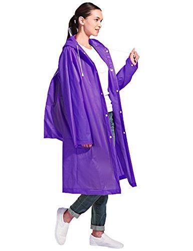Aibrou Unisex Portable Raincoat Durable EVA Outdoor Rainwear Poncho With Hoods (Poncho Rainwear)