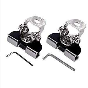 SAIDE Mounting Bracket Piller Hood Led Light Bar Clamp Piller Holder, 2PCS Universal Stainless Steel Mount Bracket Clamp Holder for SUV Truck Sedan Hatchback Wagon installing without drilling
