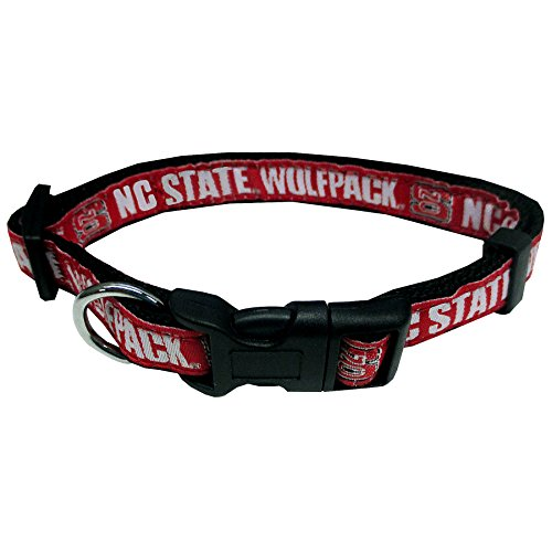 Pets First Collegiate Pet Accessories, Dog Collar, North Carolina State Wolfpack, Large ()