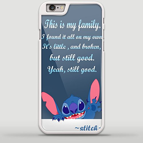 Lilo and Stitch Sympathetic Quote Design TYA for iPhone 6/6s Plus White case